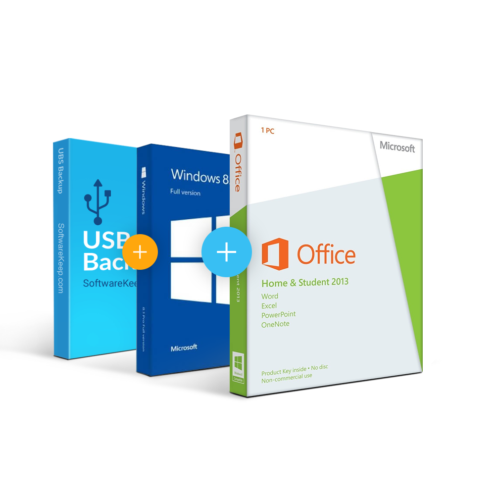 Combo Office 2013 Home & Student + Windows 8.1 + USB Software Backup ...