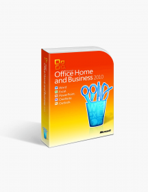Microsoft Office 2010 Home and Business Product Keycard License.