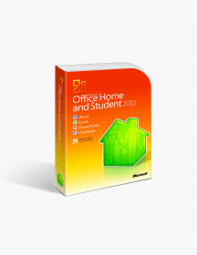 Microsoft Office 2010 Home and Student International License.