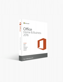 Microsoft Office 2016 Home and Business PC License For Windows.