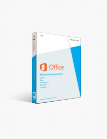 Microsoft Office 2013 Home and Business License Spanish/English.