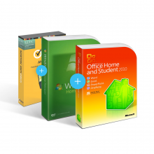 Combo Office 2010 Home & Student + Windows 7 + Antivirus