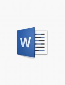 Microsoft Word 2016.