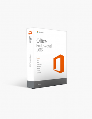 Microsoft Office 2016 Professional License.