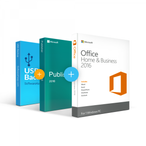 Combo Office 2016 Home & Business + Publisher + Usb Software Backup