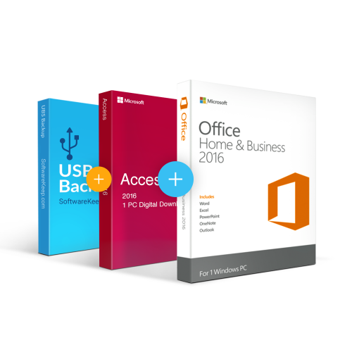 Combo Office 2016 Home & Business + Access + Usb Software Backup