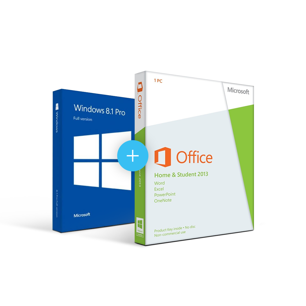 Combo Office 2013 Home & Student + Windows 8.1
